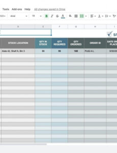 basic inventory sheet template