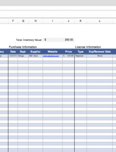 best inventory control log template word