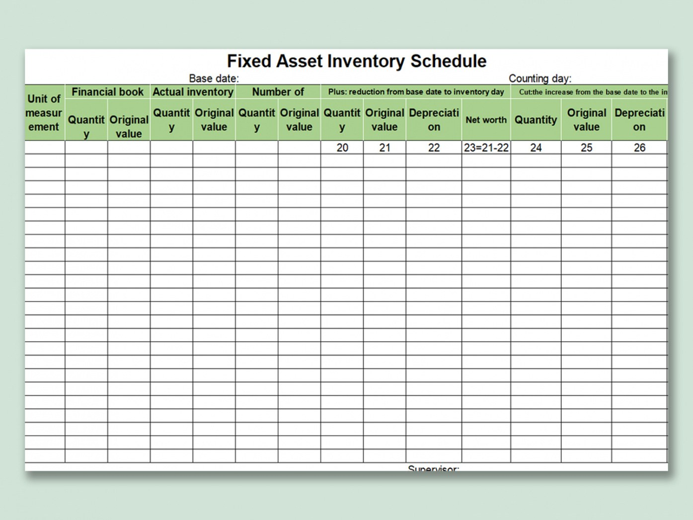 editable fixed asset inventory template word sample