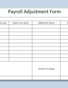 editable inventory adjustment form template pdf sample