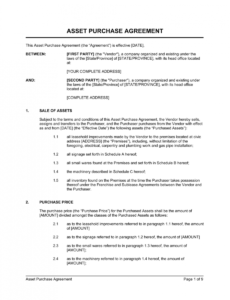 editable inventory purchase agreement template doc example