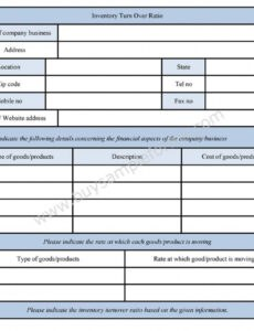 Editable Inventory Request Form Template Doc Sample