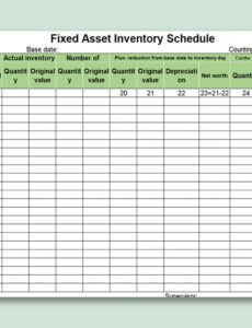 printable it asset inventory template excel sample
