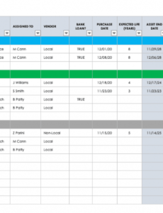 professional it asset inventory template excel sample