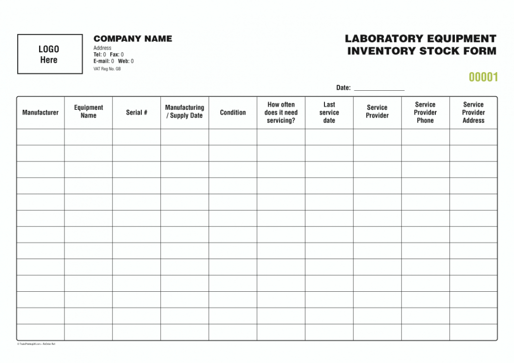 Professional Stock Inventory Template Excel