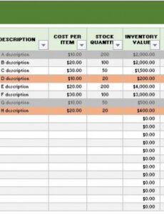 Best Tool Inventory List Template Excel Example