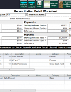 Editable Inventory Reconciliation Template Word