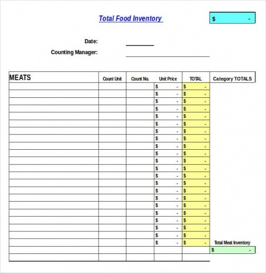 Free Parts Inventory Spreadsheet Template Pdf Sample