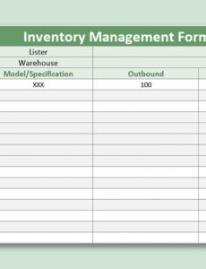 Free Stockpile Inventory Template Word Example
