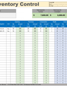 Free Warehouse Inventory Template Pdf
