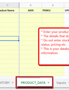 Professional Warehouse Inventory Template Word Sample