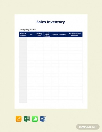 Sports Equipment Inventory Template Word Example