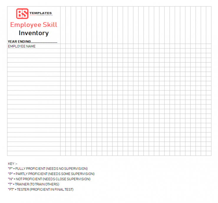 Consumables Inventory Template  Example