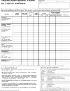 Editable Vaccine Inventory Log Template