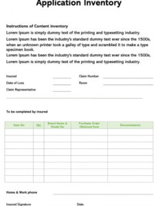 Best It Application Inventory Template Excel Sample