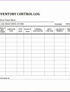 Library Book Inventory Template Pdf