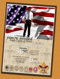 Costum Eagle Scout Program Template Word Example