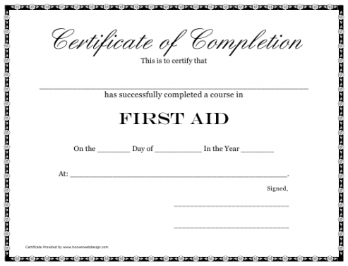 Costum First Aid Program Template Excel Example