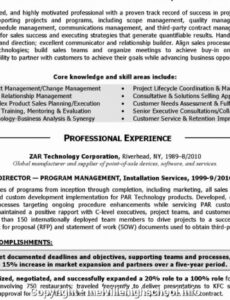 Free Costum Technical Project Manager Resume Sample Pdf