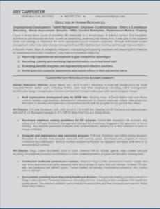 Free Customizable Human Resource Assistant Sample Resume Excel