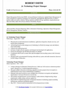Free Customizable Technical Project Manager Resume Sample Pdf