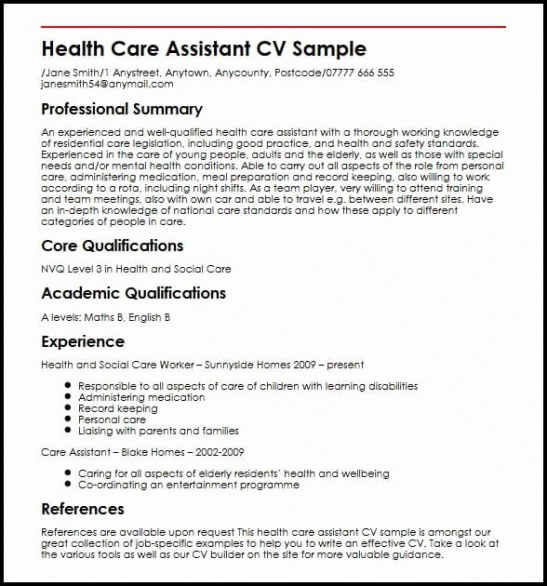 Free Editable Personal Care Assistant Resume Sample