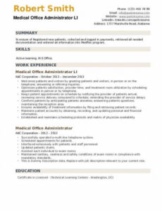 Free Printable Health Services Administration Resume Sample Word