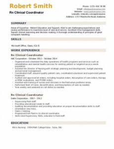 Professional  Clinical Research Coordinator Resume Sample Excel