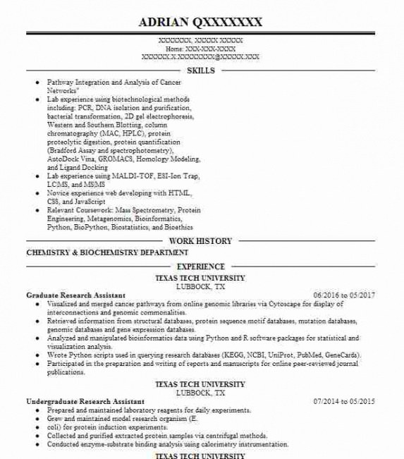 Professional Customizable Biotechnology Resume Sample Excel