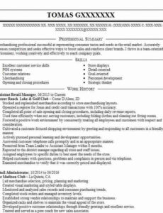 Professional Online Retail Assistant Manager Resume Sample Doc