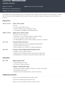 Customizable College Resident Assistant Resume Sample Pdf