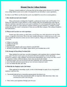 Editable Sample Resume Objectives For College Students Doc