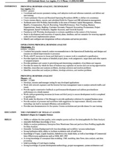 Free  Banking Business Analyst Resume Sample Excel