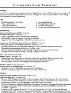 Free Editable College Resident Assistant Resume Sample Doc