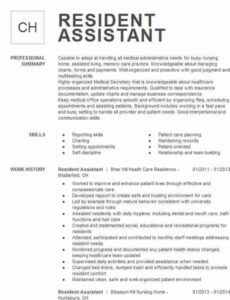 Free Printable College Resident Assistant Resume Sample Pdf