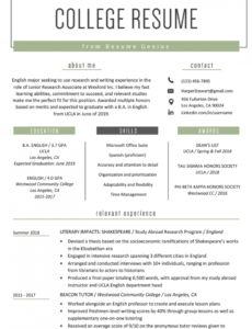 Professional Customizable Sample Resume Objectives For College Students Word