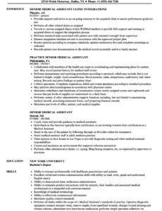 Professional  Medical Assistant Resume Objective Sample Word