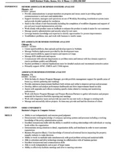 Customizable Business Systems Analyst Resume Sample Doc
