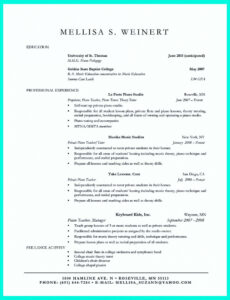 Editable Resume Without Work Experience Sample Doc