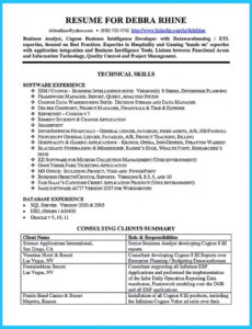 Online Business Systems Analyst Resume Sample Pdf